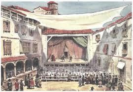 Театральное искусство во времена Средневековья В древнем театре все роли играли исключительно мужчины которые для женских ролей просто переодевались в соответствующие наряды использовали парики и