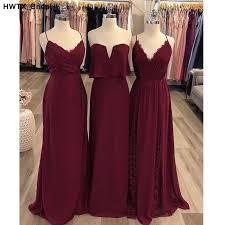 <b>Elegant Spaghetti Straps Chiffon</b> Bridesmaid Dress Long Dress for ...