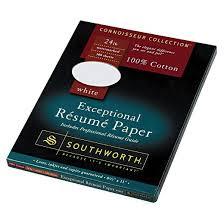 Southworth Cotton Resume Paper - White