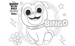 Bingo Puppy Dog Pals Coloring Pages Free Printable Coloring Sheet