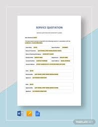 Service Quotes Templates 16 Service Quotation Templates Word Excel Pdf Free