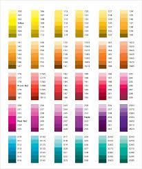 Yellow Cmyk Color Chart Cmyk Color Chart Pdf Bedowntowndaytona Com