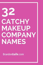 32 catchy makeup pany names