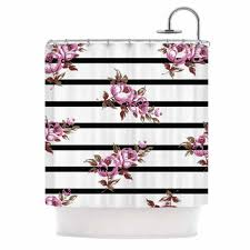 black and white flower shower curtain. nl designs \ black and white flower shower curtain