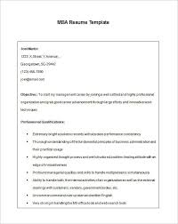 Mba Resume Template  11+ Free Samples, Examples, Format Download
