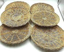 wicker bamboo paper plate holders 6