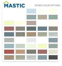 Mastic Siding Color Chart Mastic Siding Color Schemes Best Images On Exterior Remodel