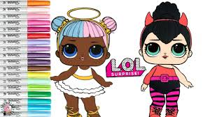 Lol Surprise Doll Coloring Book Page Lol Sugar And Lol Spice