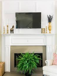 fireplace hide cables wall mount tv fireplace how to with molding tos diy affordable wires along