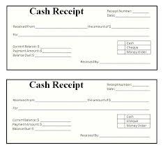 Receipt Template Doc Cash Receipt Template