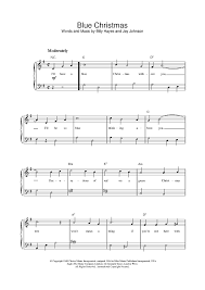 Blue Christmas (Easy Piano) Sheet Music - For Piano and More ...