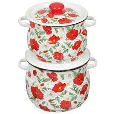 <b>Набор</b> эмалированной <b>посуды Сибирские товары</b> Маки ...