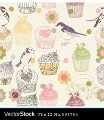 cupcake wallpaper for kitchen. Perfect For Stock Vector  Cupcake And Birds For Cupcake Wallpaper Kitchen P