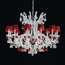 classic red swarovski crystal chandelier
