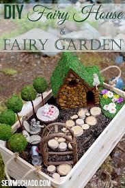 how to make a fairy garden house. Wonderful Make DIY Fairy Garden And How To Make A House Sew Much Ado