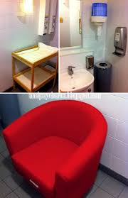 clockwise from top left changing table and disposable diapers dispenser sink and tissue dispenser nursing chair picture taken at ikea alexandra