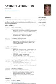 Clerical Assistant Resume samples
