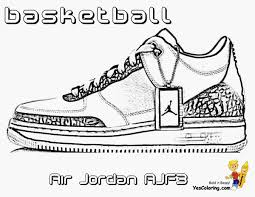 Air Jordan Shoes Coloring Pages Best Coloring Pages Collection