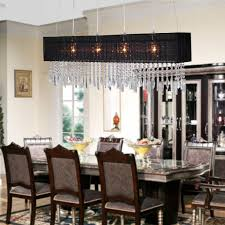 dining room crystal chandeliers fresh light rectangular chandelier dining room dinette lights black