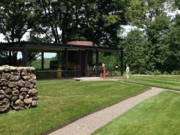 photo of the glass house new canaan ct united states front of