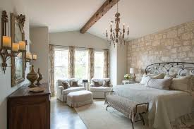 Attractive Hill Country French Country Farmhouse Bedroom