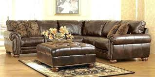 nailhead sectional sectional sofa leather 4