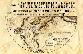 old map of barsoom found inside ic book