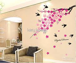 brown decorations removable wall art stickers simple sofa chair fabric pink flowers cherry blossom birds on removable wall art stickers uk with wall art decor ideas brown decorations removable wall art stickers