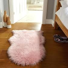 flair rugs faux fur sheepskin rug pink 60 x 90 cm linens limited faux sheepskin rugs