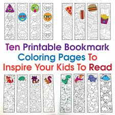 This activity includes three printable bookmarks that you can customize by having your students color their own picture on the back of the bookmarks, or even glue two together to. Ten Printable Bookmark Coloring Pages To Inspire Your Kids To Read Scribble Stitch