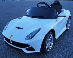 2015 New Licensed Ferrari F12 Berlinetta Kids Boy Girl Ride On Power Wheels Battery Toy Car Remote Control Lights Music White Power Wheels Car Ferrari F12