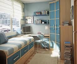 Blue Trendy Teen Bedroom Storage Ideas