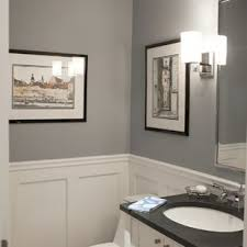 example of a classic powder room design in new york with an undermount sink shaker traditional ideas p1 room