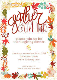 Thanksgiving Invites Customizable Thanksgiving Invitation Potluck Invitation