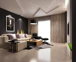 Black-Floor-Lamp-with-Chic-Gypsum-Board-Ceiling-