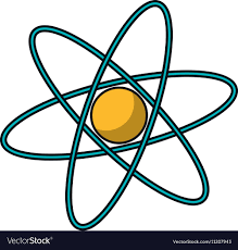 atomdesign isolated science atom design royalty free vector image