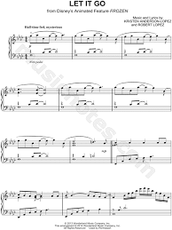 Let it go is a song from disney's 2013 animated feature film frozen. Let It Go From Frozen Sheet Music Piano Solo In F Minor Download Print Sku Mn0144671