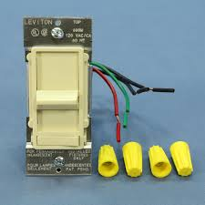 new leviton almond decora lighted 3 way preset slide dimmer switch Leviton Dimmers Wiring Diagrams Leviton 6633 P Wiring Diagram #24