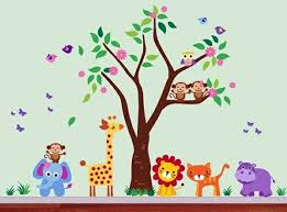 Small Picture Baby Room Wall 15 Wall Art Ideas with animals Interior Design