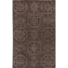 hampton design chocolate hand tufted rug 8x11