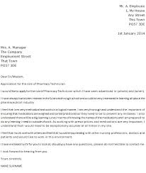 application of the role pharmacy technician cover letter pharmacy technician cover letter examples