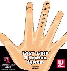 Wilson Tennis Clothing Size Chart Tennis Racquet Grip Size Doittennis