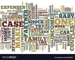 Life On One Income Text Background Word Cloud Vector Image
