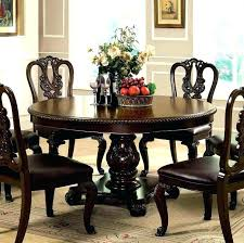traditional round glass dining table wonderful coaster shoemaker crossing pedestal dining table with glass top in