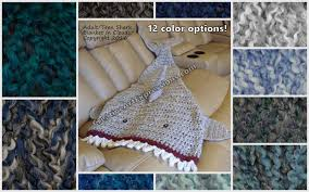 shark blanket crocheted adult teen made to order creative art shark blanket adult teen made to order