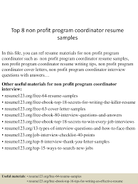 Resume For Non Profit Job top10000nonprofitprogramcoordinatorresumesamples10000lva100app6100009100thumbnail100jpgcb=100100310010061000051007 67