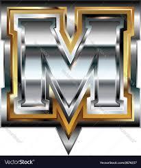 fancy letter m fancy font letter m royalty free vector image vectorstock