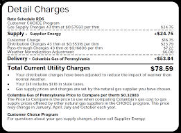 Pa Electric Rate Comparison Chart Choice Columbia Gas Of Pennsylvania
