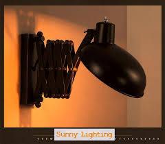 retractable lighting. Loft Vintage Telescopic Wall Sconce E27*1 Bathroom Retractable Mirror Light Black Iron Lamp Lighting