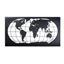 Wanddecoratie Wereldkaart Metaal